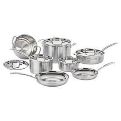 MultiClad Pro 12 Piece Cookware Set in Stainless Steel