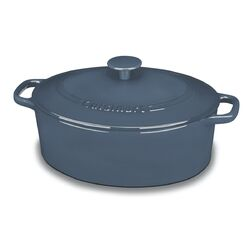 5.5-qt. Cast Iron Oval Covered Casserole
