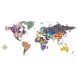 Global Patterns by Jennifer Hill Painting Print on Canvas
