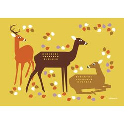 Forest Deer by Eleanor Grosch Painting Print on Canvas