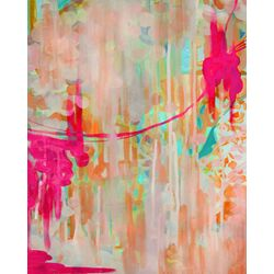 Neon Jellyfish by Stephanie Corfee Painting Print on Canvas