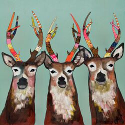 Designer Deer by Eli Halpin Painting Print on Canvas