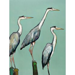 Heron Focus by Eli Halpin Painting Print on Canvas
