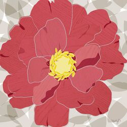Peony by Molly Bernarding Painting Print on Canvas