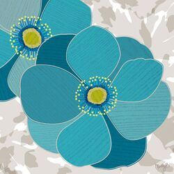 Anemone by Molly Bernarding Painting Print on Canvas