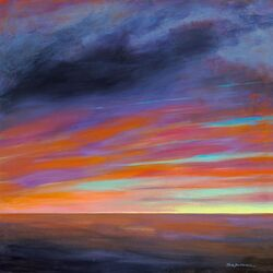 Sunset I by Jack Dickerson Painting Print on Canvas