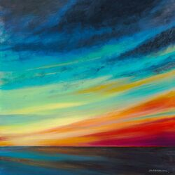 Sunset II by Jack Dickerson Painting Print on Canvas