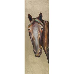 Horse on Gold by Eli Halpin Painting Print on Canvas