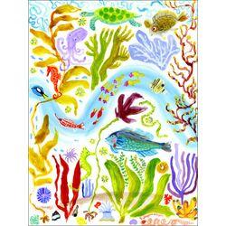 Octopus Garden Canvas by Donna Ingemanson Painting Print on Canvas
