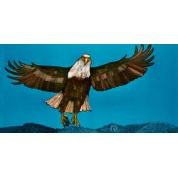 Bald Eagle Blues by Eli Halpin Painting Print on Canvas