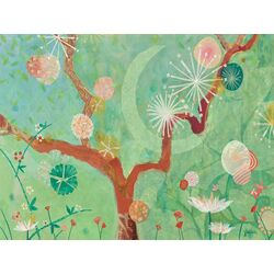 Kimono Moon by Jenny Kostecki-Shaw Painting Print on Canvas