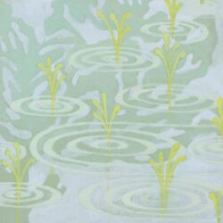 Pond by Sally Bennett Painting Print on Canvas in Blue
