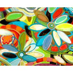 Flower Petals on Water by Andrew Daniel Painting Print on Canvas