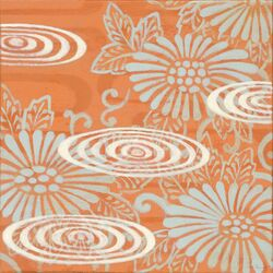 Terra Cotta Floral by Sally Bennett Painting Print on Canvas