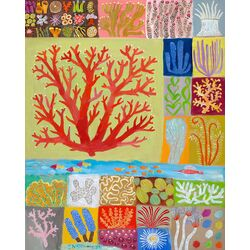 Coral Collection by Donna Ingemanson Painting Print on Canvas