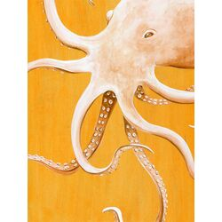 Orange Octopus by Karin Grow Painting Print on Canvas