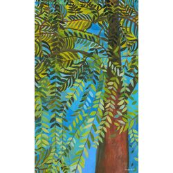 Green Willow by Caroline Blum Paintning Prink on Canvas
