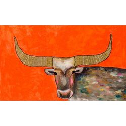 Golden Bull by Eli Halpin Painting Print on Canvas