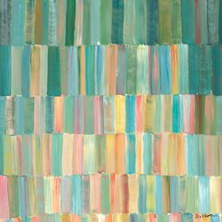 Popsicle Sticks by Jack Dickerson Painting Print on Canvas in Blues and Pastels