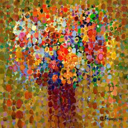 Floral Bouquet by Angelo Franco Painting Print on Canvas