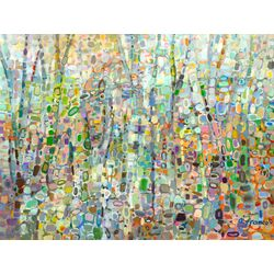 Abstract Forest by Angelo Franco Painting Print on Canvas