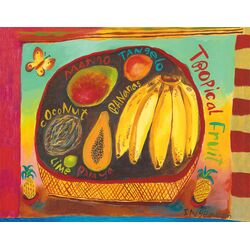 Tropical Fruit by Donna Ingemanson Painting Print on Canvas
