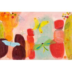 Butterfly Dream by Jenny Kostecki-Shaw Painting Print on Canvas