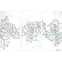 Flower 31 by Andy Anh Ha 3 Piece Painting Print on Canvas Set