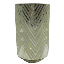 Medium Square Diamond Frost Hurricane/Vase (Set of 2)