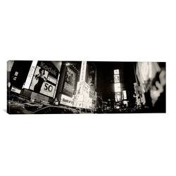 Panoramic Buildings Lit Up At Night, Times Square, New York City, New York Photographic Print ...
