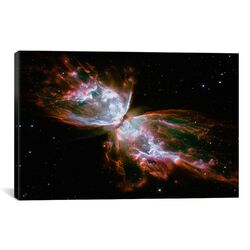Astronomy and Space Butterfly Nebula (Hubble Space Telescope) Photographic Print on Canvas