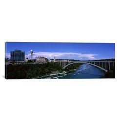 Panoramic Rainbow Bridge, Niagara River, Niagara Falls, New York State Photographic Print on Canvas