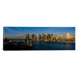 Panoramic Brooklyn Bridge, NYC, New York City, New York State Photographic Print on Canvas