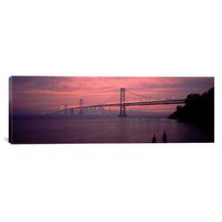 Panoramic Bay Bridge San Francisco, California Photographic Print on Canvas
