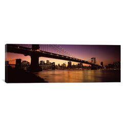 Panoramic Manhattan Bridge, Lower Manhattan, New York City, New York State Photographic Print ...
