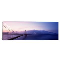 Panoramic Golden Gate Bridge San Francisco, California Photographic Print on Canvas