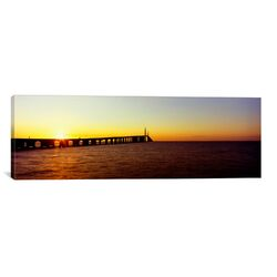 Panoramic Sunshine Skyway Bridge, Tampa Bay, St. Petersburg, Pinellas County, Florida ...