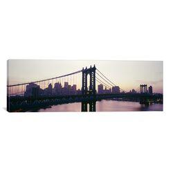 Panoramic Manhattan Bridge, East River, Manhattan, New York City, New York State Photographic ...