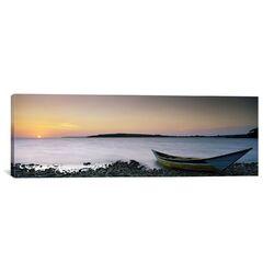 Panoramic Boat at the Lakeside, Lake Victoria, Great Rift Valley, Kenya Photographic Print on ...