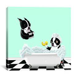 'Bath Tub BT' by Brian Rubenacker Graphic Art on Canvas
