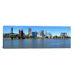 Panoramic Buildings at the Waterfront, Portland Rose Festival, Portland, Multnomah County, ...