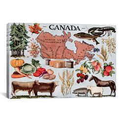 Canada's Natural Resources Vintage Advertisement on Canvas