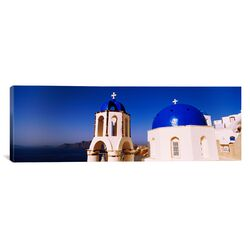 Panoramic Church with Sea in the Background, Santorini, Cyclades Islands, Greece Photographic ...