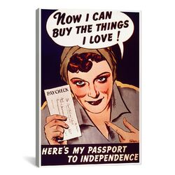 Can't Buy Me Love Vintage Poster Canvas Print Wall Art