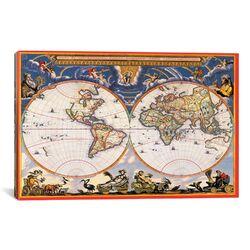 Antique World Map - Nova Et Accuratissima Totius Terrarum Orbis Tabula (Blaeu, Joan 1664) ...