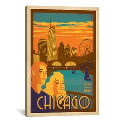 'Chicago, Illinois' by Anderson Design Group Vintage Advertisement on Canvas