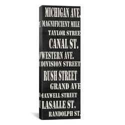 Typography Willow Way Studios Chicago Streets, Inc Textual Art on Canvas
