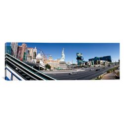 Panoramic Buildings in a City, New York New York Hotel, MGM Casino, The Strip, Las ...
