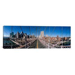 Panoramic Brooklyn Bridge, New York City Photographic Print on Canvas