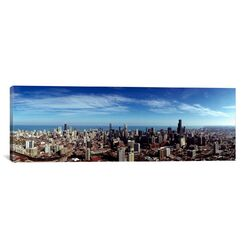 Panoramic Aerial View of Chicago, Illinois with Lake Michigan in the Background Photographic ...